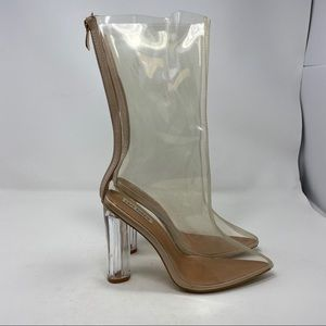 Cape Robbin Women's Heeled Clear Boots Size 8 A121